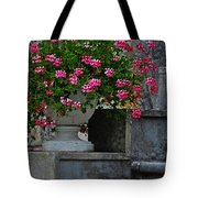 Flowers On The Steps Tote Bag