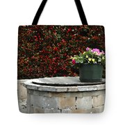 Flowers On The Well Tote Bag