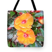 Flowers Plastic Or Real  Tote Bag