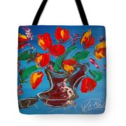 Flowers Tulips Tote Bag