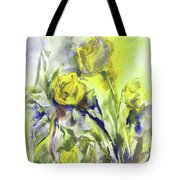 Flowery Abstraction Tote Bag