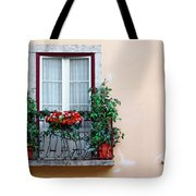 Flowery Balcony Tote Bag by Carlos Caetano