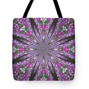 Flowery Snow Flake Tote Bag
