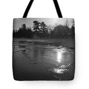 Flowing Water At Sunrise Tote Bag