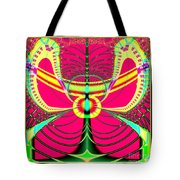Fluorescent Butterfly Fractal 68 Tote Bag