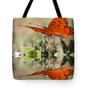 Fluttering Reflections - Butterfly Tote Bag