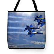 Fly The Skys Blue Angels Tote Bag