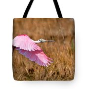 Flying Across The Wetlands Tote Bag