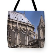 Flying Buttress At Nortre Dame Cathedral Tote Bag