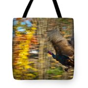 Flying Wild Turkey Escapes Thanksgiving Tote Bag