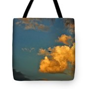 Flying With The Clouds Tote Bag