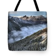 Fog Below Hurricane Tote Bag