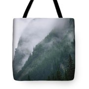 Fog Blankets Spruce Trees  In Yoho Tote Bag