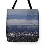 Fog Over A Grants Pass Morning Tote Bag