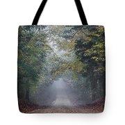 Fog Road Tote Bag