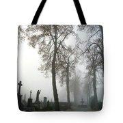 Foggy Cemetery Tote Bag