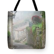 Foggy Lane In St Cirq Tote Bag