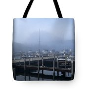 Foggy Morning In Door County Tote Bag