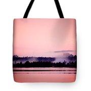 Foggy Pink Morning Tote Bag