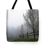 Foggy Trees In The Valley Tote Bag