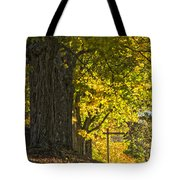 Foliage At The Cemetery Tote Bag