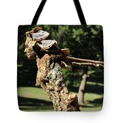 Foliated Victory Among The Trees Tote Bag