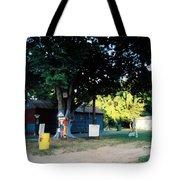 Folk Art Yard And Tree Tote Bag