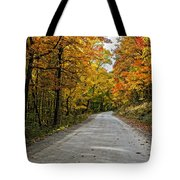 Follow The Yellow Leafed Road Tote Bag