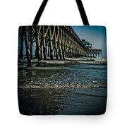 Folly Beach Pier Tote Bag