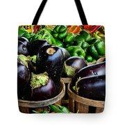 Food - Farm Fresh - Eggplant And Peppers Tote Bag