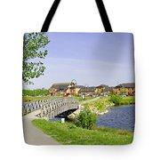 Foot-bridge And Lake - Barton Marina Tote Bag