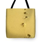 Foot Prints Tote Bag