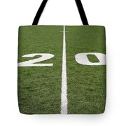 Football Field Twenty Tote Bag