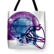 Football Helmet X-ray Tote Bag