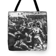 Football: Soldiers, 1865 Tote Bag