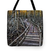 Footpath In Mangrove Forest Tote Bag