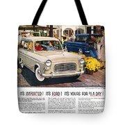 Ford Avertisement, 1959 Tote Bag