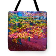 Forest Color Leaves Tote Bag