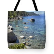 Forested Shores Of Lake Tahoe Tote Bag