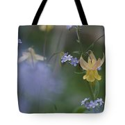 Forget-me-not And Yellow Columbine Tote Bag