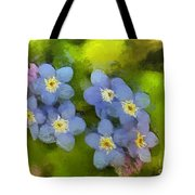 Forget-me-not Flower Tote Bag