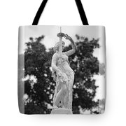 Forsyth Fountain - Black And White 2 Tote Bag