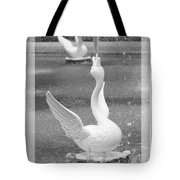 Forsyth Fountain - Black And White 3 Tote Bag