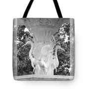Forsyth Fountain - Black And White 4 Tote Bag