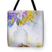 Forsythia And Ghost Daisies Tote Bag