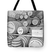 Fort Macon Food Supplies Bw 9070 3759 Tote Bag by Michael Peychich