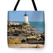 Fort Pickering Lighthouse Tote Bag by Catherine Reusch Daley