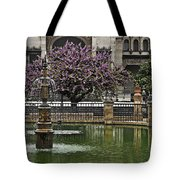 Fountain And Tree Tote Bag