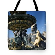 Fountain At Place De La Concorde. Paris. France Tote Bag