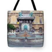 Fountain In Arles France Tote Bag